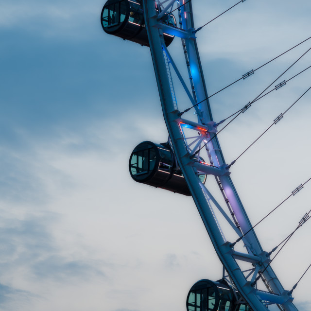 """Evening Singapore Flyer"" stock image"