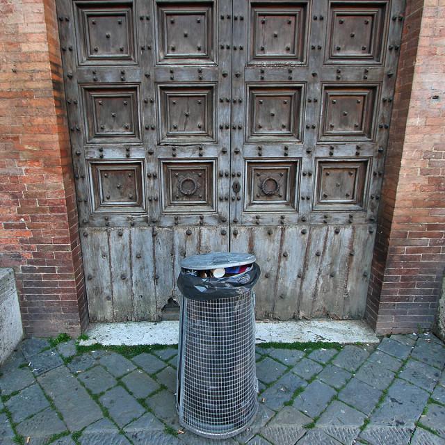 """""""Door, Siena"""" stock image"""