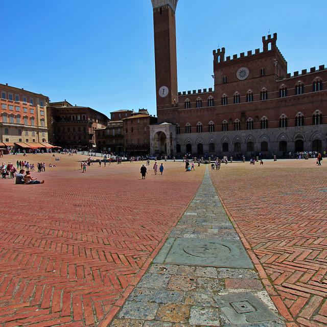 """Siena piazza"" stock image"