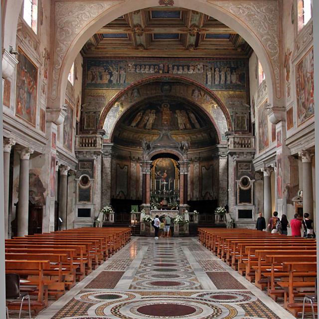 """Basilica Santa Prassede,Rome"" stock image"
