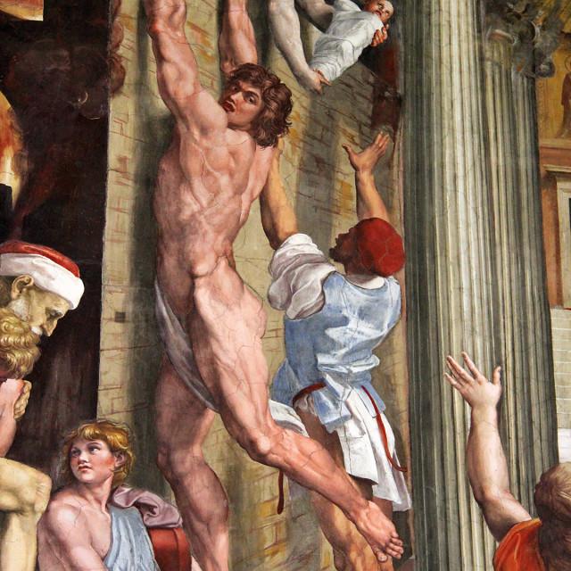 """Vatican city museum painting"" stock image"