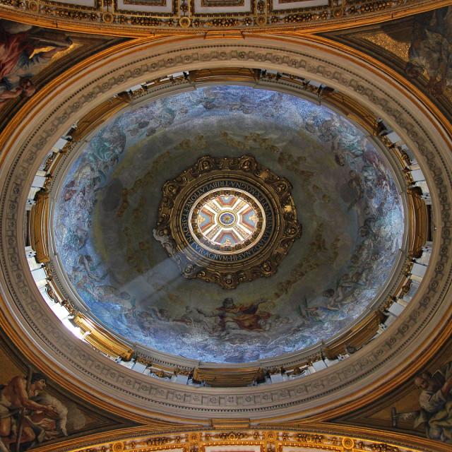 """Saint peters basilica, Vatican city, Italy"" stock image"