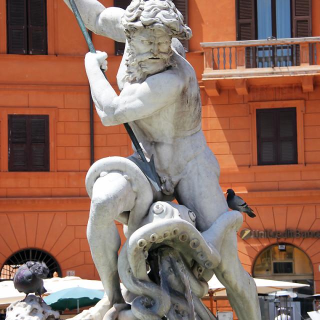 """Neptunes fountain, Rome"" stock image"