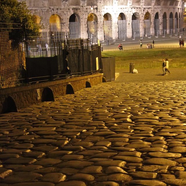 """Outside the Colosseum"" stock image"