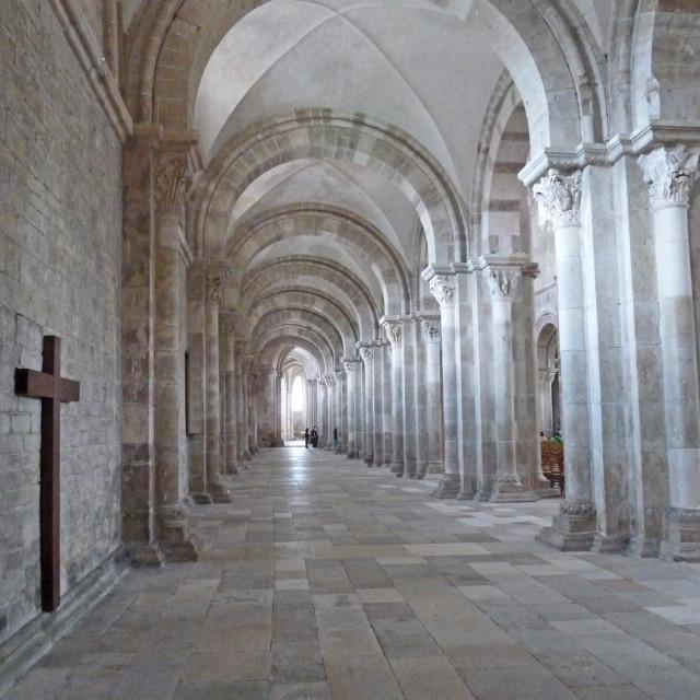 """La basilique Sainte-Marie-Madeleine de Vézelay"" stock image"