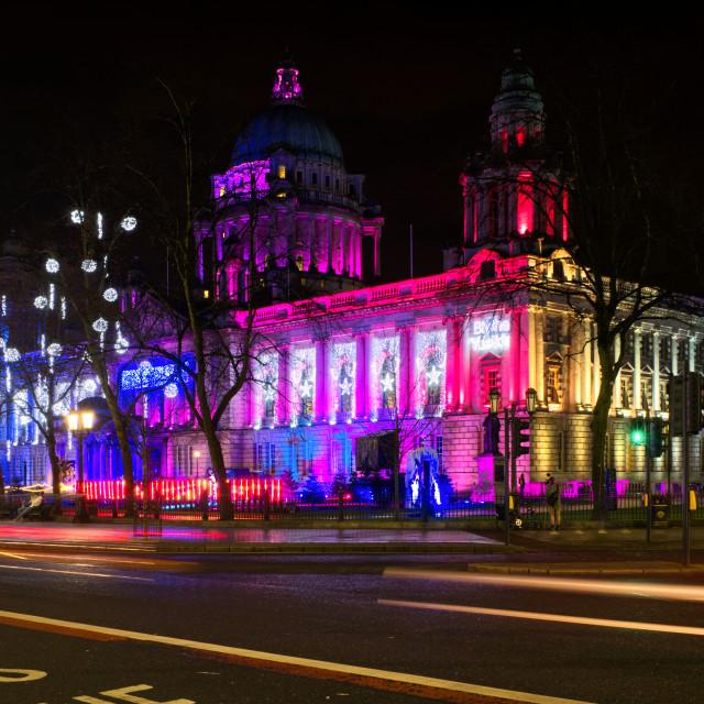"""""""Belfast City Hall - Christmas 2020"""" stock image"""