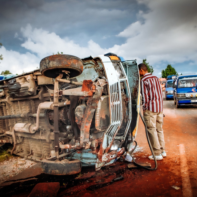 """Road Accident in Madagascar"" stock image"