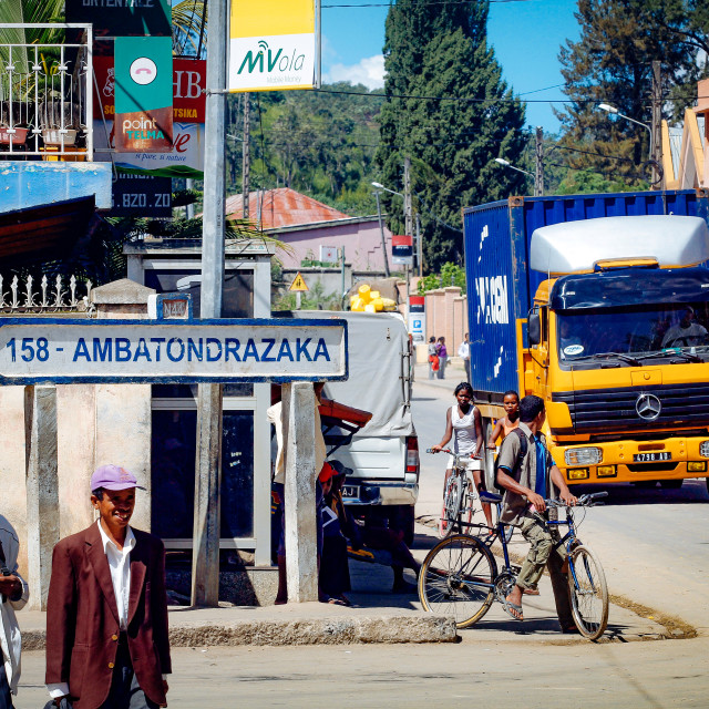"""street scene in Moramanga"" stock image"