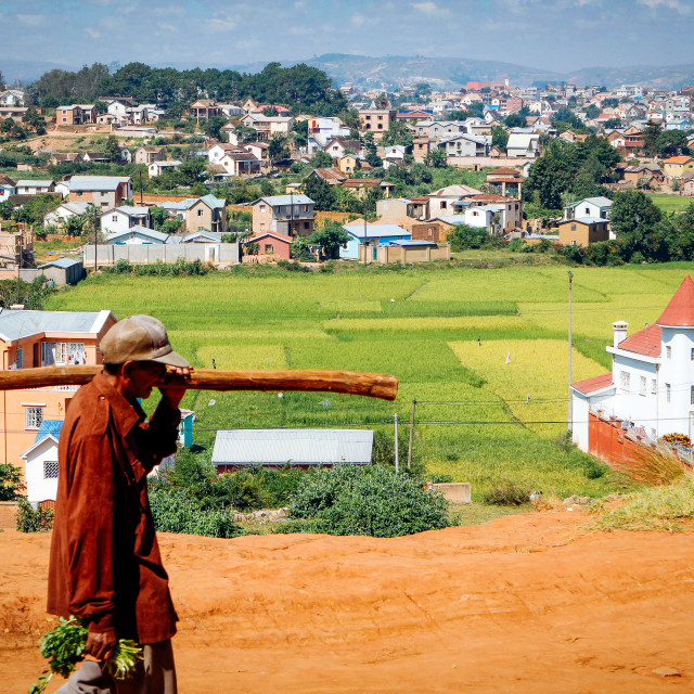 """""""view and landscape at Itaosy Madagascar"""" stock image"""