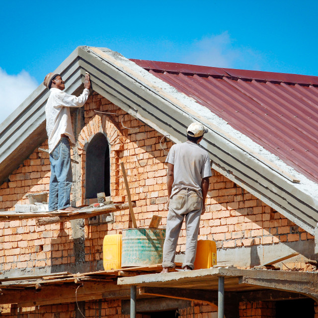 """construction of a house"" stock image"