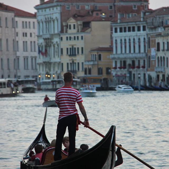 """""""Gondola in Venice"""" stock image"""