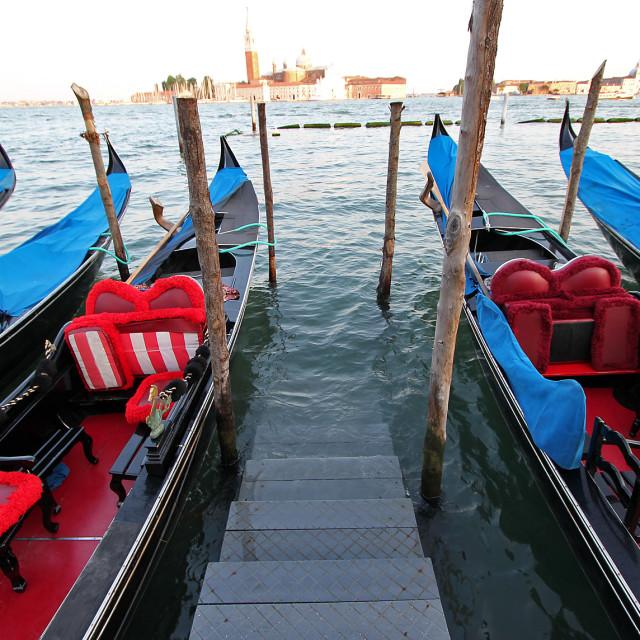 """Gondolas, Venice"" stock image"