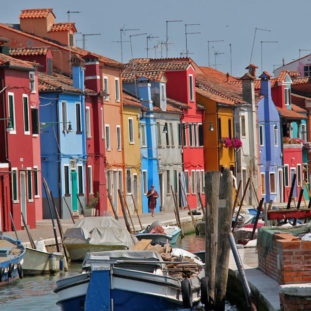 """""""Boats, Marano Italy"""" stock image"""