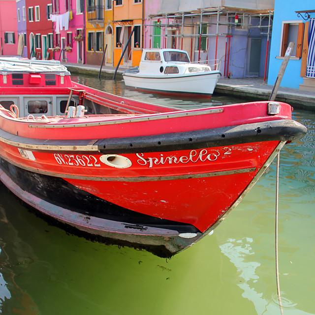 """Boat,Burano"" stock image"