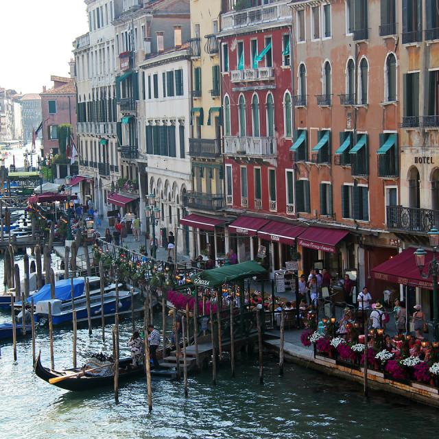 """""""View from Rialto bridge, Venice"""" stock image"""