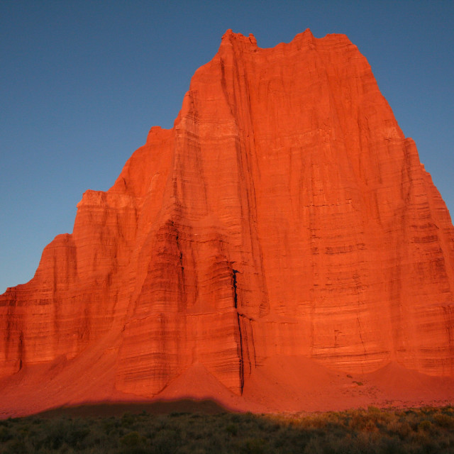 """""""Temple of the moon, sunrise, capital reef national Park"""" stock image"""