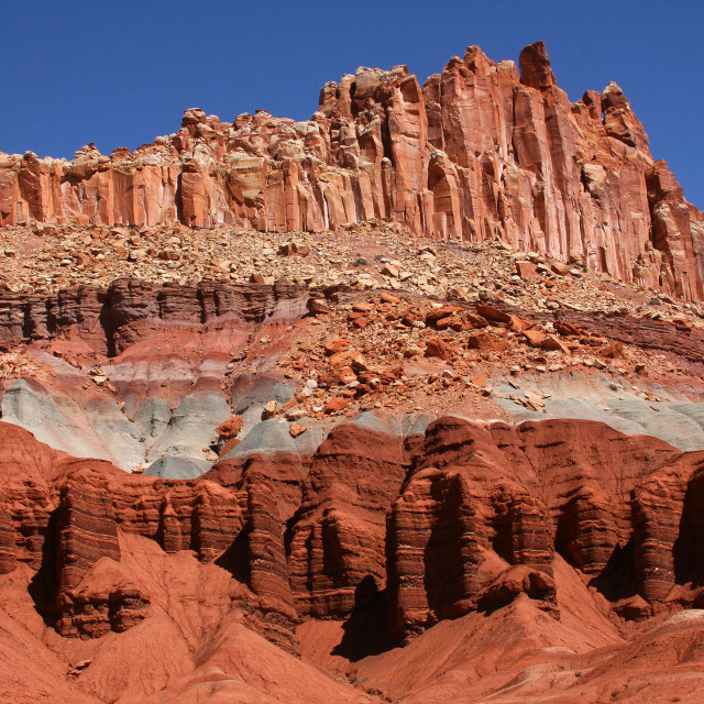 """The castle, capital reef national Park, Utah"" stock image"
