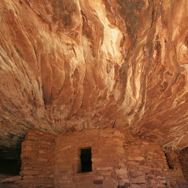 """House on fire ruins, San Juan County Utah"" stock image"