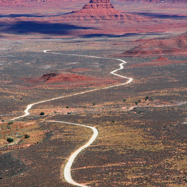 """""""Valley of the gods from Mesa Butte"""" stock image"""