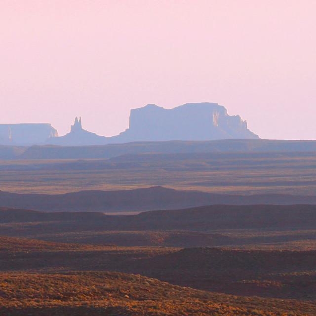 """Monument valley panorama, four corners, Utah/Arizona"" stock image"