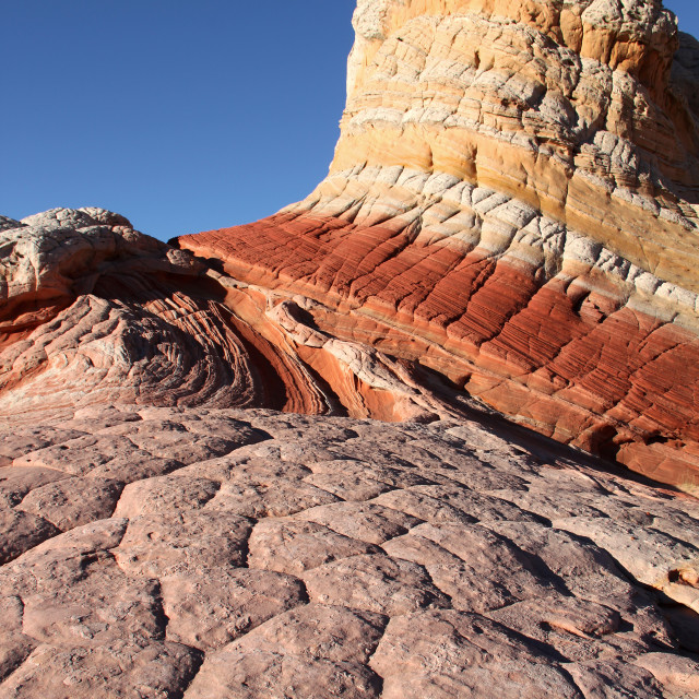 """""""The white pocket, South coyote Butte, Arizona"""" stock image"""