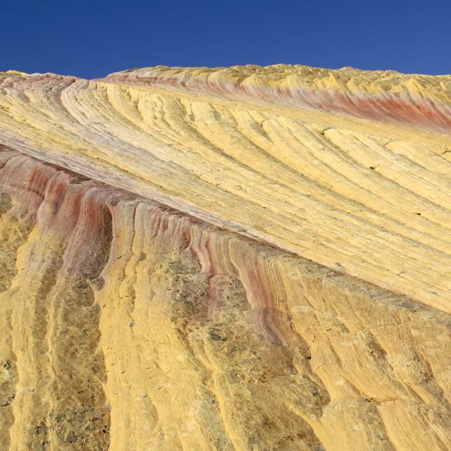 """Yellow rock, Cottonwood Canyon Rd., Utah"" stock image"