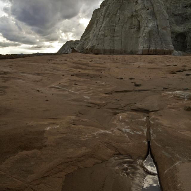 """Reflection, Paria wilderness, Utah"" stock image"