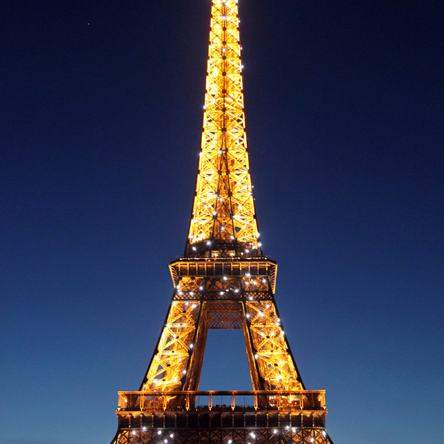 """""""Eiffel tower at Dawn"""" stock image"""