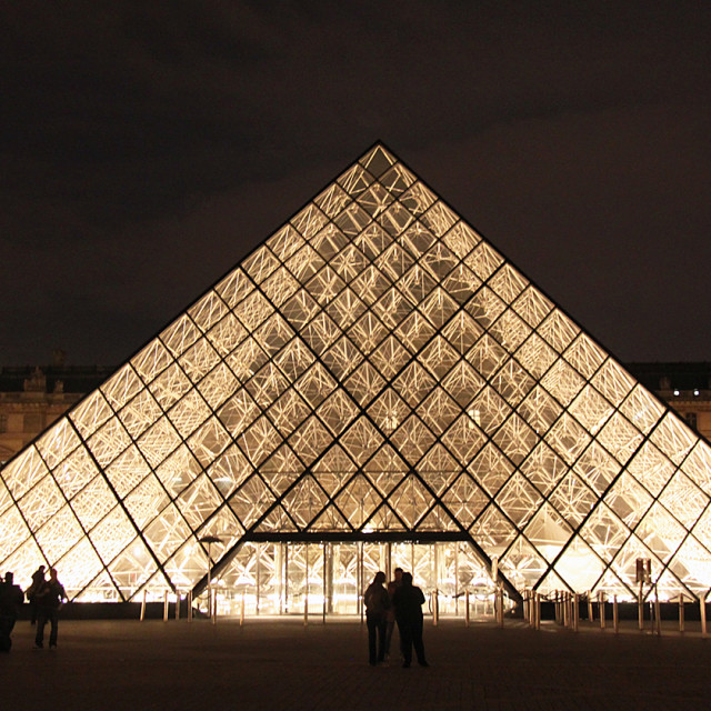 """Louvre pyramid, Paris, France"" stock image"