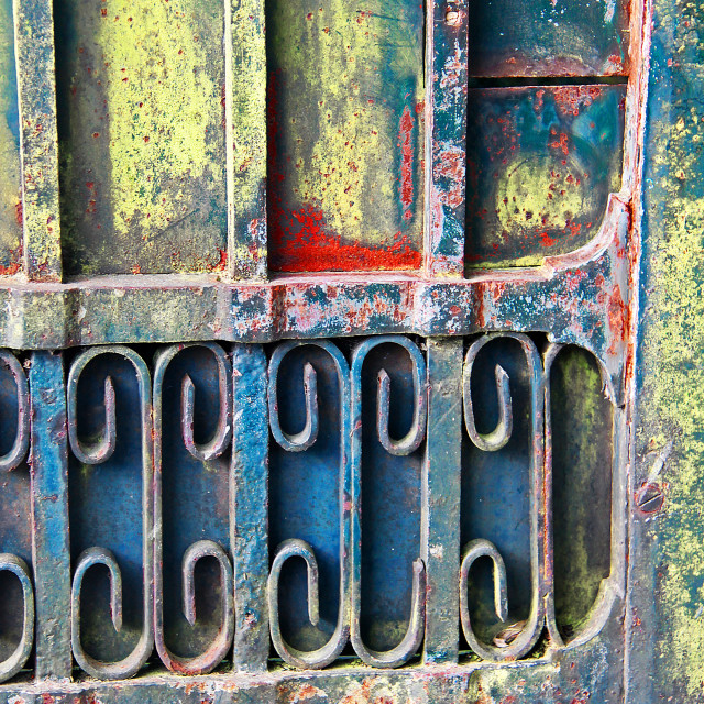 """""""Colorful door2, Bayeux ,France"""" stock image"""