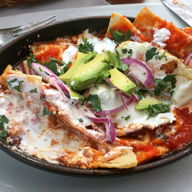 """""""Mexican breakfast, Holbox,Mexico"""" stock image"""