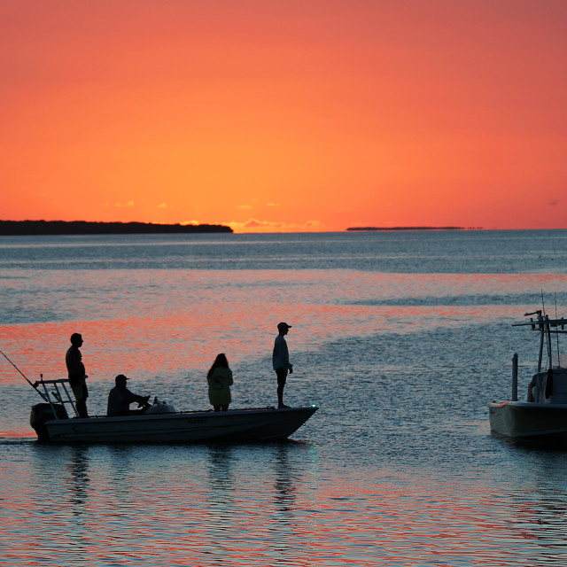 """Sunset, Islamorada"" stock image"