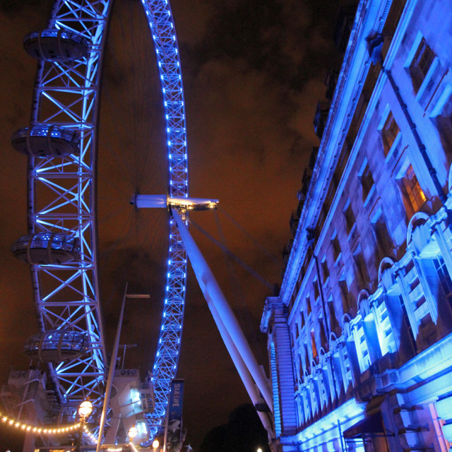 """London eye, London England"" stock image"
