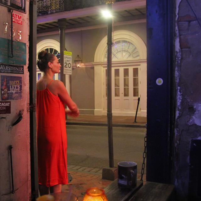"""Frietzel jazz club,New Orleans Louisiana"" stock image"