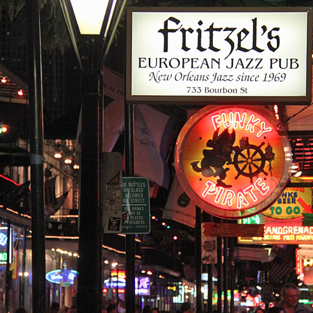 """Fritzel's Jazz Club,Bourbon St., New Orleans"" stock image"