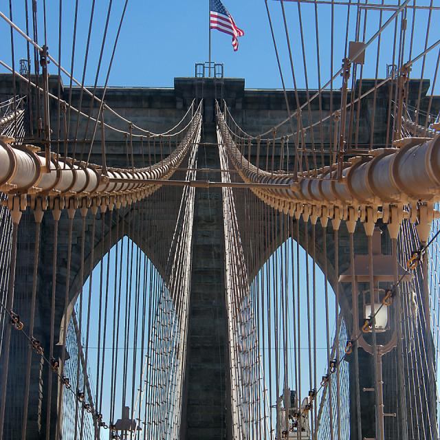"""Brooklyn Bridge, New York, New York"" stock image"