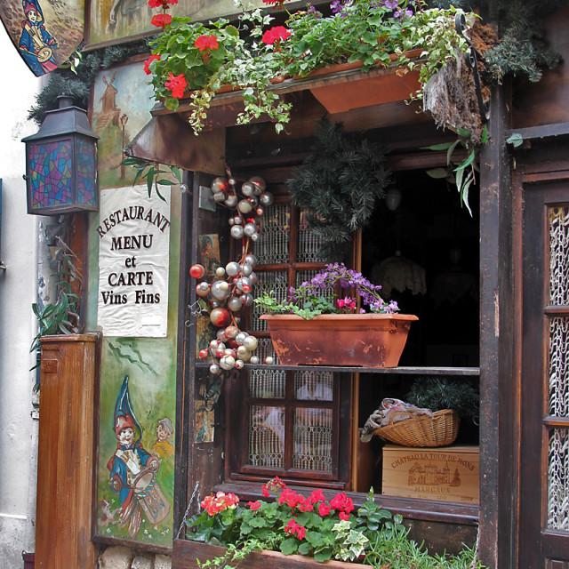 """Restaurant,Montmartre, Paris"" stock image"