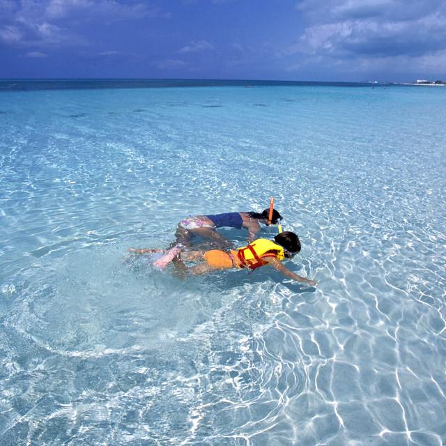 """""""Snorkeling, providenciale, Turks and Caicos's"""" stock image"""