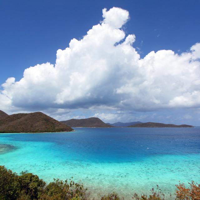 """Leinster Bay, St John, US Virgin Islands"" stock image"