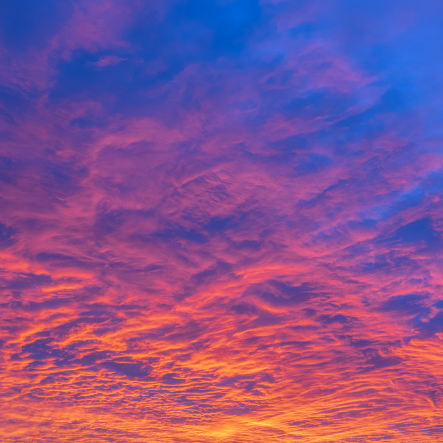 """Amazing Colorful Sunset Background"" stock image"