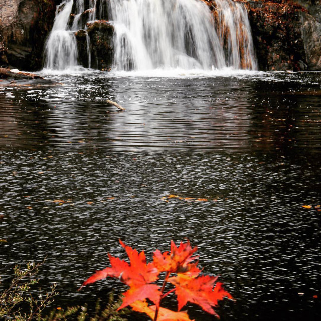 """Linville Falls, North Carolina"" stock image"