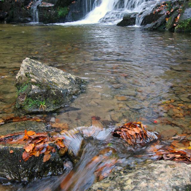 """Eastatoe Falls,Rosman North Carolina"" stock image"