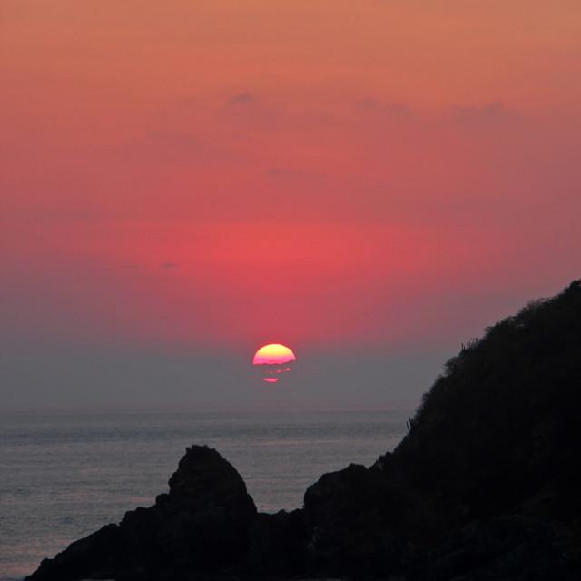 """""""Sunset, Bahia las Tortugas,Mexico"""" stock image"""