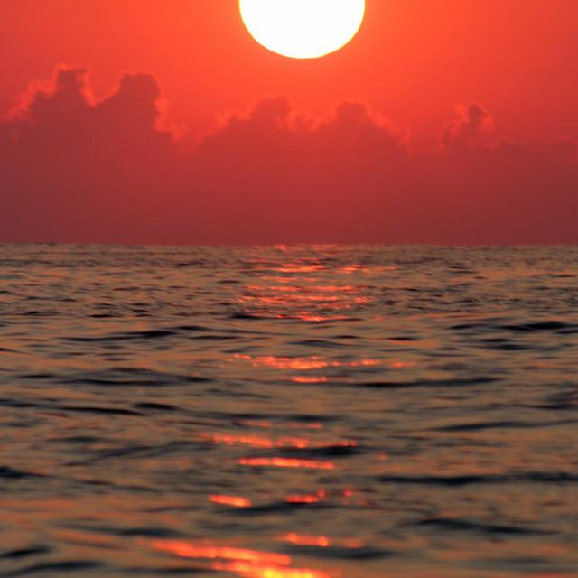 """Sunrise, Puerto Vicente, Mexico"" stock image"