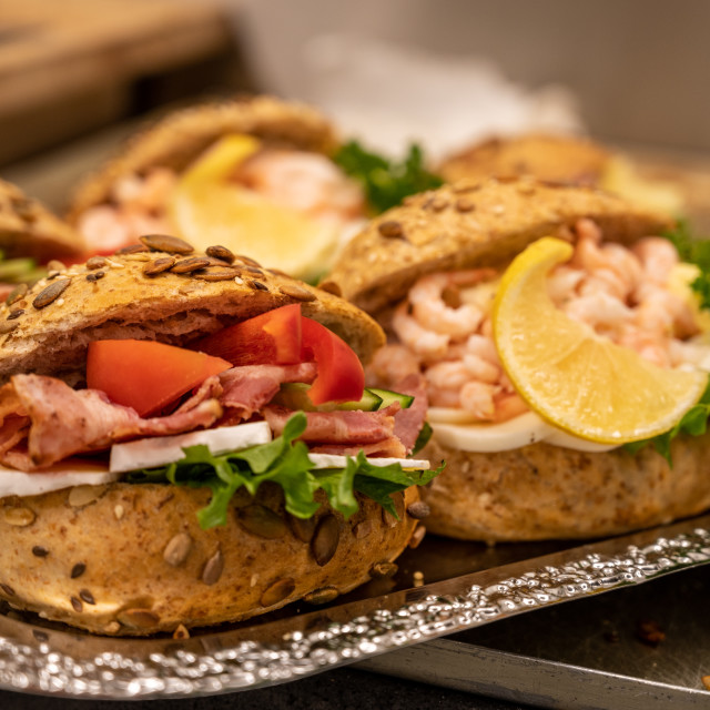 """Making sandwiches"" stock image"