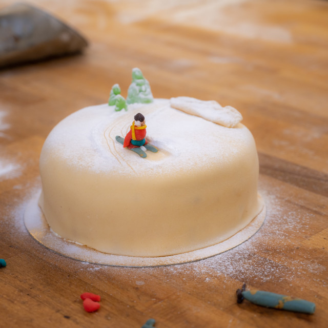 """Decorated cake"" stock image"