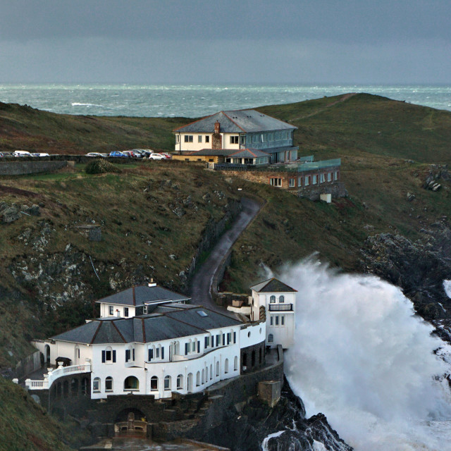 """""""The house at Lewinnick Cove."""" stock image"""