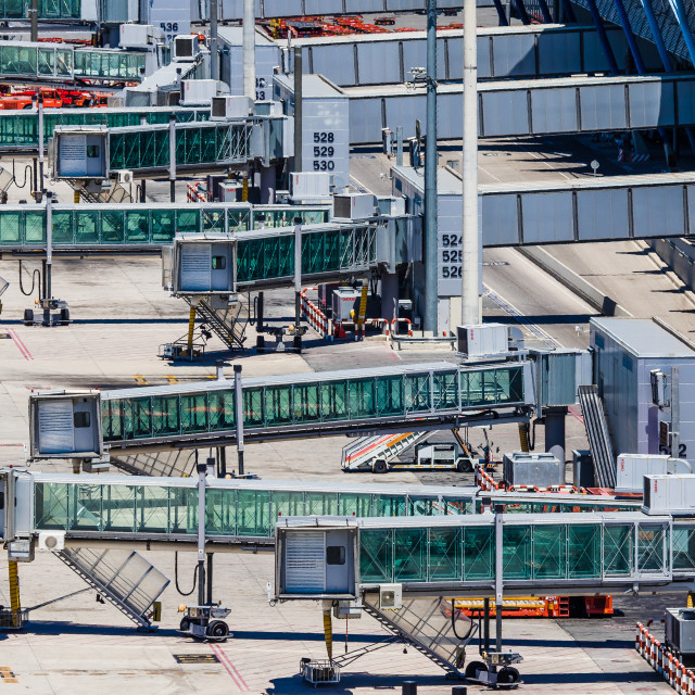 """""""Fingers at Madrid Barajas Airport T4S Terminal"""" stock image"""