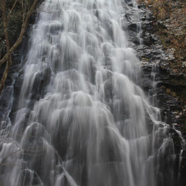 """Crabtree Falls, Little Switzerland, North Carolina"" stock image"
