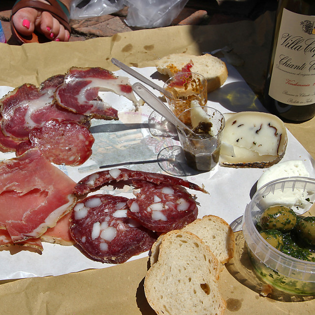"""""""Charcuterie, Siena, Italy"""" stock image"""